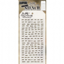 THS101 Stampers Anonymous Tim Holtz Layering Stencil - Dashes